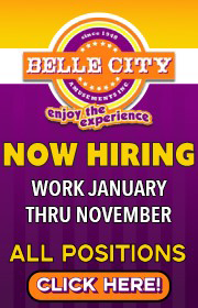 Belle City is NOW HIRING FOR 2020!  Ride Supers and Ride Foremen - Chance Giant Wheel Foreman - Electrician Wanted!  Call Charles 407-399-1831