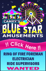 Campy's Amusements is Now Hiring for 2021 - Ring of Fire Foreman, Electrician, Ride Supers