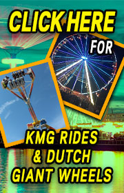 NewRidesEurope.com is your source for Easy KMG Rides, Concept 1900 Carousels, and Caravans in the USA.  Popular rides include the Freak Out, Inversion, Afterburner, Speed, Move-It, and a all new line of Dutch Portable Giant Wheels.  Check us out at NewRidesEurope.com or call Peter Theunisz (cell) +31-655-795-792.