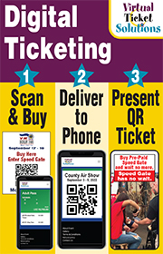 Virtual Ticket Solutions provides carnivals, fairs, and events with a turn-key, digital ticketing solution.   Visit www.idcard.com or call 800-489-0048