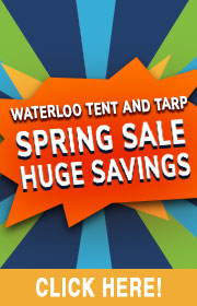 Waterloo Tent & Tarp is holding a clearance FIRE SALE!  Save big on in-stock, ready to ship items!  Bally cloths, ride tops, ride skirts, center joints, framed tents, and much more!  Call 800-537-1193 for more info.