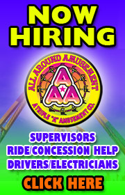 All Around Amusements is now hiring ride, game, food, help for the 2018 season.  Call 815-725-2323 for more info or visit www.allaroundamusementsinc.com