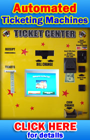 "American Changer's NEW Ticket Center Kiosk is designed to sell tickets to your customers.  It features a touch screen display and accepts cash, coins, and credit cards.  It dispenses tickets and provides change back to your customer in ""bills & coins"".  Y"