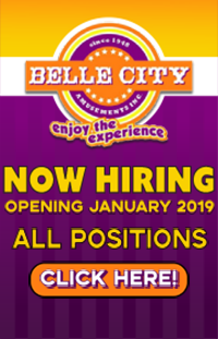 Belle City is NOW HIRING FOR 2018!  Ride Supers and Ride Foremen - Chance Giant Wheel Foreman - Electrician Wanted!  Call Zack: 321-578-0449 or 