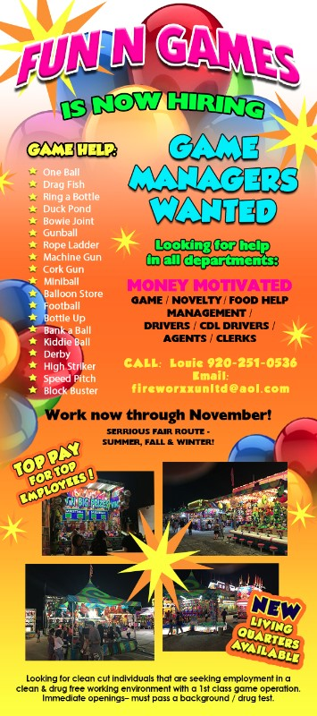 FUN N GAMES is now hiring
