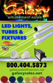 Galaxy Amusement Sales - LED Tube lights, LED lights, and much more!  Visit www.galaxysales.net or call 800-404-5873