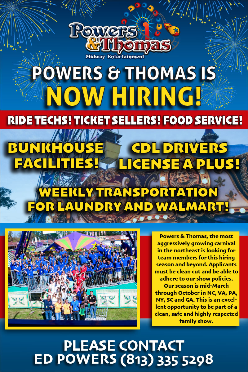 Powers and Thomas is now hiring ride help and more