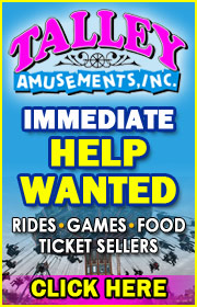 TALLEY AMUSEMENTS IS NOW HIRING!  APPLY IMMEDIATELY!  Call (817) 847-0888 or visit www.talleyamusements.com