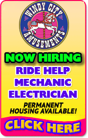 WINDY CITY AMUSEMENTS - Ride Help, Electrician, Mechanic wanted for 2018 season!  Call Mark at 630-327-7156 or Timmy at (630) 965-5270