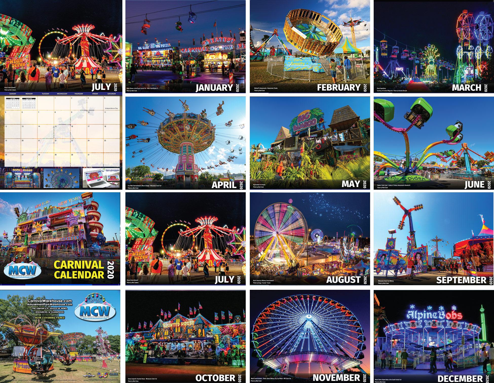 2019 Carnival Calendar Preview